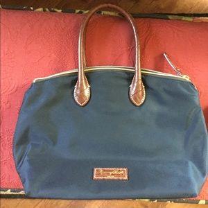 Dooney & Bourke Small Navy Satchel Leather Handles